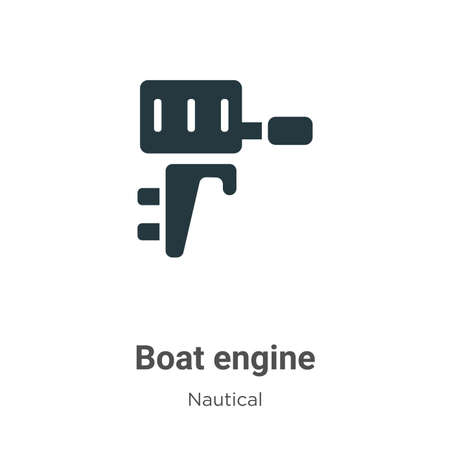 Boat engine glyph icon vector on white background. Flat vector boat engine icon symbol sign from modern nautical collection for mobile concept and web apps design.