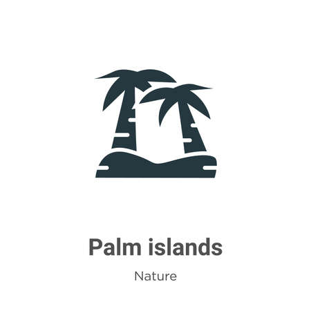 Palm islands glyph icon vector on white background. Flat vector palm islands icon symbol sign from modern nature collection for mobile concept and web apps design. Ilustração