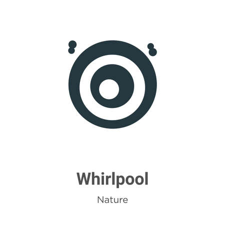 Whirlpool glyph icon vector on white background. Flat vector whirlpool icon symbol sign from modern nature collection for mobile concept and web apps design. Ilustração