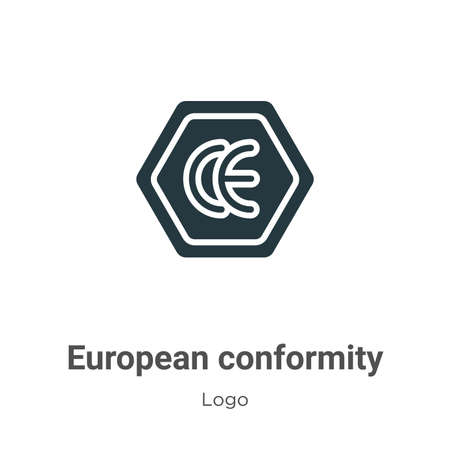European conformity glyph icon vector on white background. Flat vector european conformity icon symbol sign from modern logo collection for mobile concept and web apps design. Ilustração