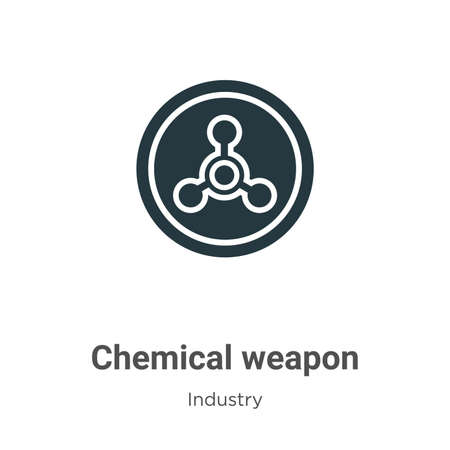 Chemical weapon glyph icon vector on white background. Flat vector chemical weapon icon symbol sign from modern industry collection for mobile concept and web apps design.