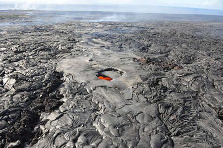 long range: Lava skylight long range, Kilauea, Big Island of Hawaii