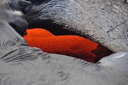 Lava skylight close-up, Kilauea, Big Island of Hawaii