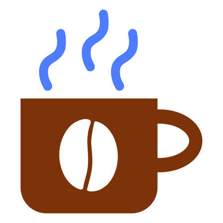 Coffee Cup pictograph. a flat illustration iconic design.