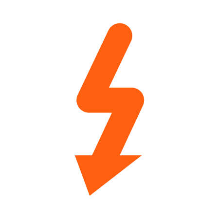 Electric Spark pictogram. a flat illustration iconic design.