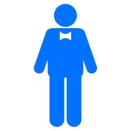 personality: Groom flat vector pictogram. An isolated icon on a white background.