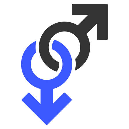 Gay Symbol flat raster pictogram. An isolated icon on a white background.