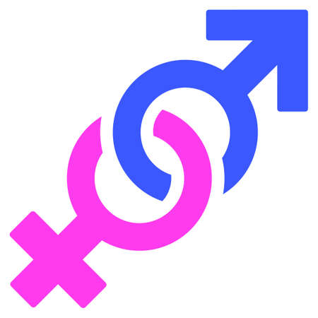 Gender Confrontation Symbol flat raster illustration. An isolated icon on a white background.