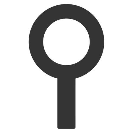 Barren Gender Symbol flat vector illustration. An isolated icon on a white background. Illustration