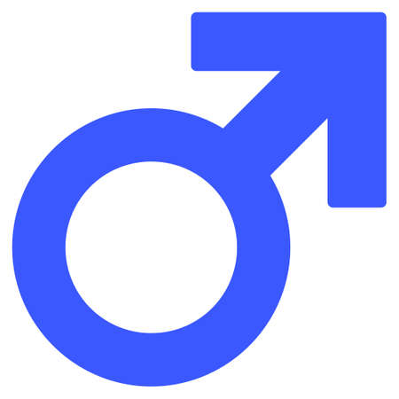 Male Symbol flat vector icon. An isolated icon on a white background.