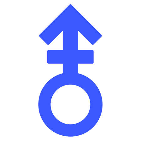 Third Gender Symbol flat vector icon. An isolated icon on a white background. Illustration