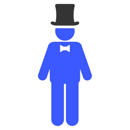 Gentleman flat vector pictograph. An isolated icon on a white background. Illustration