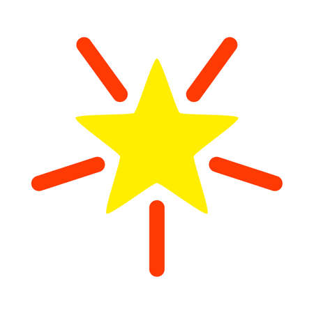 Bright Star vector illustration. A flat illustration iconic design of Bright Star on a white background.