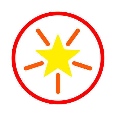 Rounded Shine Star vector illustration. A flat illustration iconic design of Rounded Shine Star on a white background.