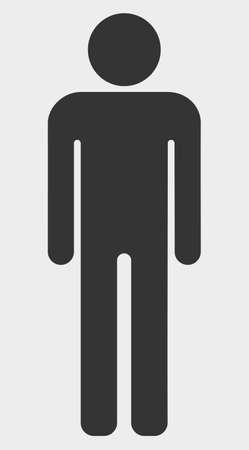 Man Figure vector illustration. A flat illustration design of Man Figure icon on a white background.