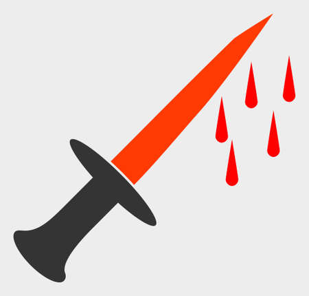 Blood Sword vector icon. A flat illustration design of Blood Sword icon on a white background.