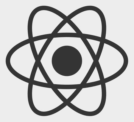 Atom vector illustration. A flat illustration design of Atom icon on a white background.
