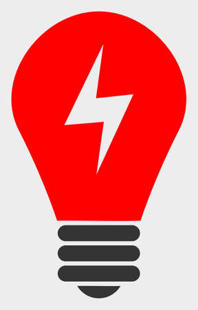 Electric Bulb raster icon. A flat illustration design of Electric Bulb icon on a white background.