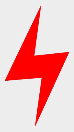Electric Hazard raster illustration. A flat illustration design of Electric Hazard icon on a white background. Reklamní fotografie