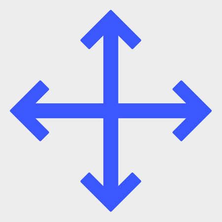 Enlarge Arrows raster illustration. A flat illustration design of Enlarge Arrows icon on a white background.
