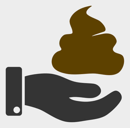 Hand Give Shit raster icon. A flat illustration design of Hand Give Shit icon on a white background.
