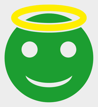 Holy Smiley raster illustration. A flat illustration design of Holy Smiley icon on a white background.