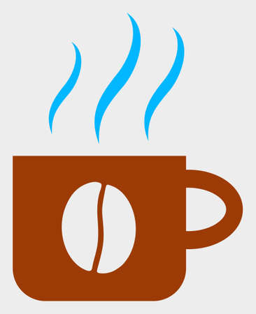 Hot Coffee Cup raster icon. A flat illustration design of Hot Coffee Cup icon on a white background.