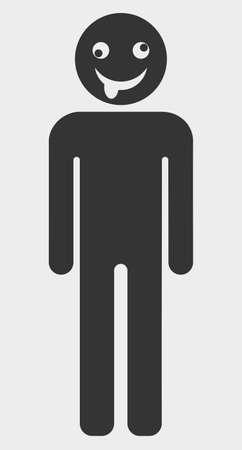 Idiot Person raster icon. A flat illustration design of Idiot Person icon on a white background. Stockfoto