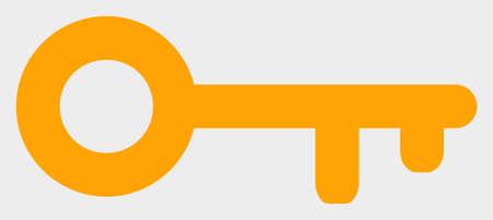 Key raster illustration. A flat illustration design of Key icon on a white background.