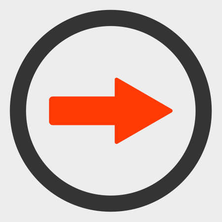Rounded Right Arrow raster icon. A flat illustration design of Rounded Right Arrow icon on a white background.