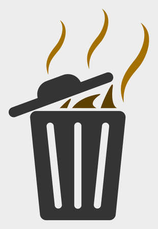 Smell Trash Can raster icon. A flat illustration design of Smell Trash Can icon on a white background.