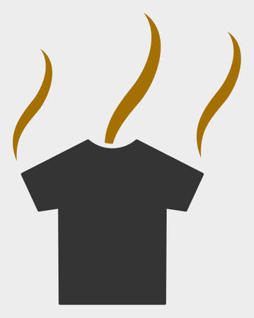 Smell T-Shirt raster icon. A flat illustration design of Smell T-Shirt icon on a white background.