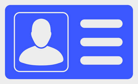User Account Card raster icon. A flat illustration design of User Account Card icon on a white background.