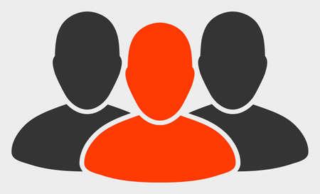 User Group raster illustration. A flat illustration design of User Group icon on a white background.