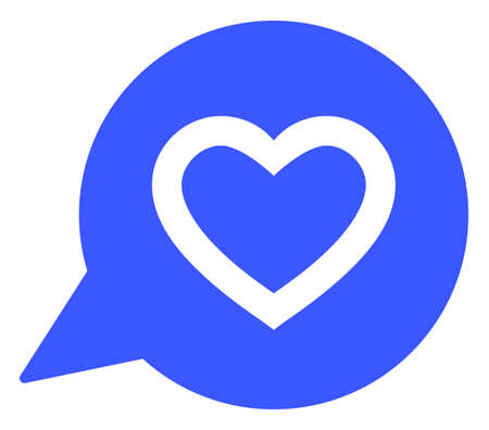Favourite Heart Message raster illustration. A flat illustration iconic design of Favourite Heart Message on a white background.
