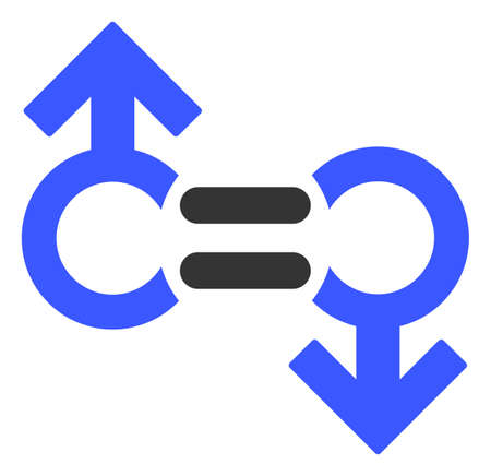Gay Relation Symbol raster illustration. A flat illustration iconic design of Gay Relation Symbol on a white background.