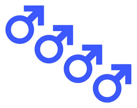Male Cohort Symbol raster illustration. A flat illustration iconic design of Male Cohort Symbol on a white background. 免版税图像 - 154327191