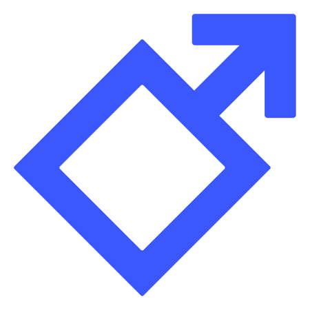 Male Symbol  raster illustration. A flat illustration iconic design of Male Symbol  on a white background. 免版税图像 - 154327192