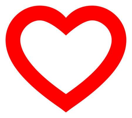 Romantic Heart raster illustration. A flat illustration iconic design of Romantic Heart on a white background. 免版税图像 - 154327199
