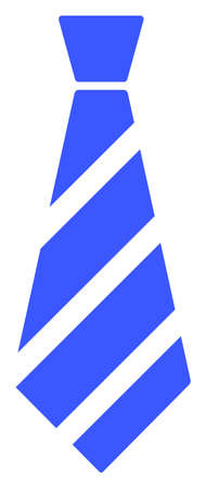 Striped Tie raster illustration. A flat illustration iconic design of Striped Tie on a white background. 免版税图像 - 154327203