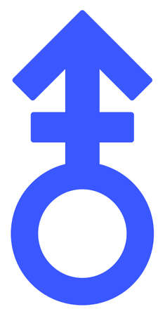 Third Gender Symbol raster illustration. A flat illustration iconic design of Third Gender Symbol on a white background. 免版税图像