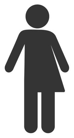 Third Gender raster illustration. A flat illustration iconic design of Third Gender on a white background.