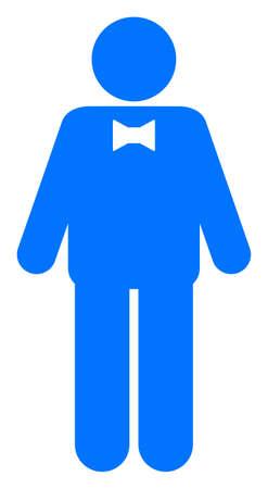 Groom raster illustration. A flat illustration iconic design of groom on a white background. 免版税图像 - 154327215