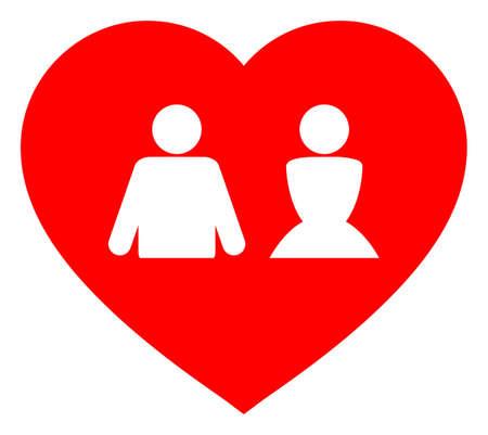 Love heart v3 raster illustration. A flat illustration iconic design of love heart v3 on a white background. 免版税图像 - 154327224