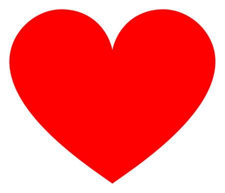 Love heart raster illustration. A flat illustration iconic design of love heart on a white background. 免版税图像 - 154327226