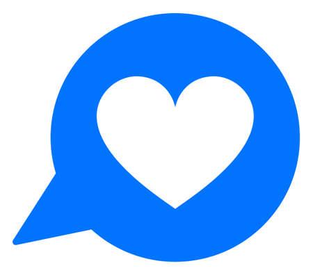 Love heart message raster illustration. A flat illustration iconic design of love heart message on a white background. 免版税图像 - 154327234