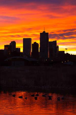 denver at sunrise: Sunrise over Denver