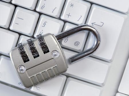 unlocked keyboard, warning vulnerability concept