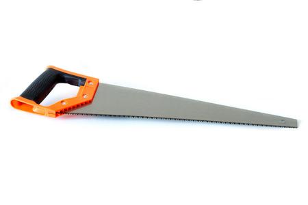 serrucho: sierra de mano aislado en un blanco apaisada