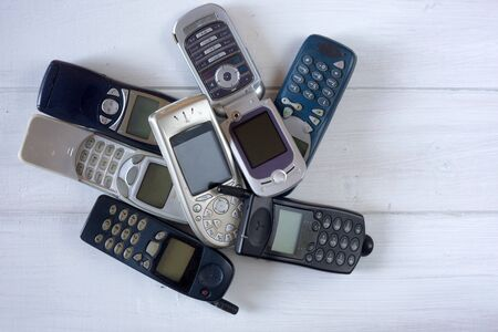 obsolete: Obsolete cellular phones, old device recycle